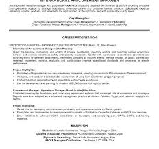 Supply Chain Management Resume Examples by Charming Ideas Procurement Resume 11 Procurement Manager Resume