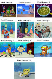 Final Fantasy Memes - final fantasy spongebob comparison spongebob comparison charts