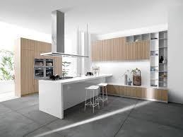 cuisine bois acier cuisine bois et blanc moderne 25 idées d aménagement