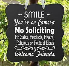 front door video camera amazon com no soliciting sign smile camera video surveillance