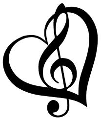 treble clef heart vinyl decal sticker car window wall bumper music