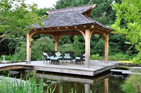 free standing gazebo deck asian with outdoor furniture concrete