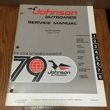 1979 johnson outboard motor service manual 55hp models 55e79