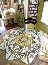 Glass Dining Room Table Tops Best 25 Glass Table Top Ideas On Pinterest Cable Spool Ideas
