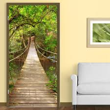 wall stickers uk wall art stickers kitchen wall stickers wd10005 jungle catwalk door mural