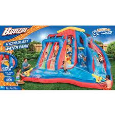 inflatable water slide bounce house backyard pool kids bouncer