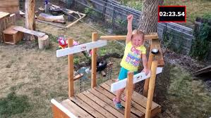 Backyard Ninja Warrior Course Dad Builds Daughter 5 Epic U0027ninja Warrior U0027 Obstacle Course
