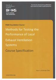 bohs p600 foundation course methods for testing performance of