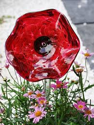 glass flowers garden accents garden décor garden ornaments