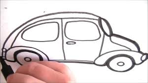 volkswagen drawing drawing a cartoon vw beetle requested video youtube