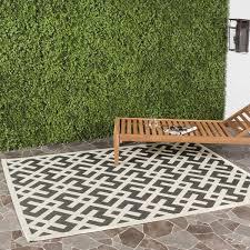 5x8 Outdoor Rug Safavieh Courtyard Contemporary Black Bone Indoor Outdoor Rug 9