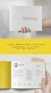minimalist resume template indesign album layout img models worldwide 37 creative portfolio brochure design templates print idesignow