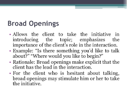 therapy openings unit 5 therapeutic communication and interpersonal relationship