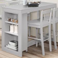 counter height table with storage jofran 813ec 48 tribeca counter height table w 3 storage shelves in