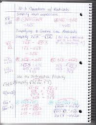 worksheet operations with radical expressions laurelmacy