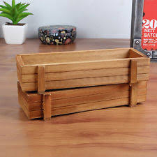 Wooden Window Flower Boxes - wood planter box ebay