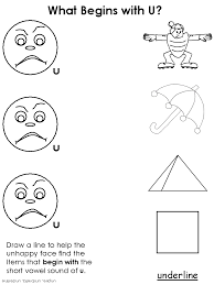 draw a line short vowel worksheets