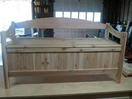 Plans For Making A Wooden Bench by Bedroom Amazing Storage Bench With Back Treenovation Regarding How