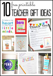 teacher gift ideas free printables the country chic cottage