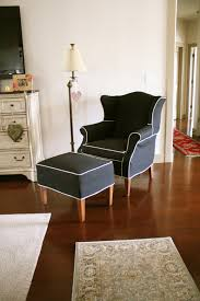 Custom Slipcovers By Shelley Custom Slipcovers By Shelley Black Wingback And Ottoman