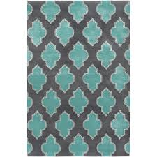 Area Rugs Turquoise Quatrefoil Turquoise And Grey Area Rug