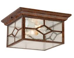 Menards Ceiling Lights Patriot Lighting 10 Rustic Brown Contemporary Flush