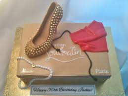 made fresh daily gold spiked christian louboutin shoe box cake
