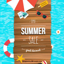 summer sale summer sale background vector free