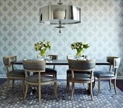 Dining Room Chairs Nyc Klismos Chair Dining Room Traditional With Antique Mirror Tile