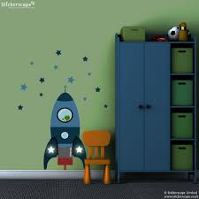 blast off rocket wall sticker blue space wall stickers blue blast off rocket wall sticker