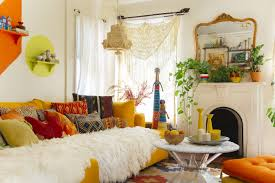 nice livingroom colorful bohemian living room design with nice unique furniture