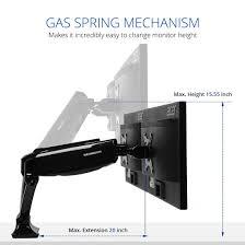 ergotron lx hd wall mount swing arm amazon com loctek d5d dual monitor mount lcd arm full motion