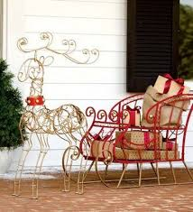 Outdoor Sleigh Decoration Fun Christmas Decorating U2014 Outdoors Style Stylish Eve