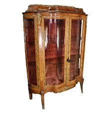Curio Cabinet Vintage Louis Xv Style Mahogany And Ormolu Curio Cabinet Ebth