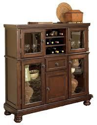 ashley furniture corner curio cabinet porter server with storage cabinet by ashley furniture condo