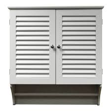 shutter doors white wooden bathroom wall cabinet with towel rack
