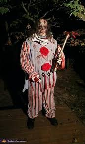 killer clown costume handmade evil killer clown costume
