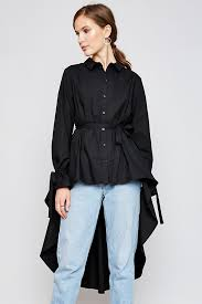 black button up blouse black high low hem button up blouse modishonline com