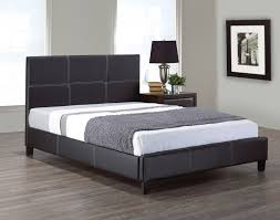 if 130b black leather bed double size mattress furniture