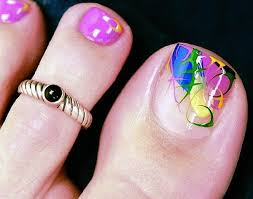 lamste famail toe nail art designs for christmas 2012