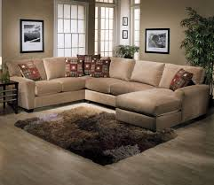 furniture comfortable brown wrap around couch for inspiring
