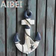 mediterranean style coat hook wooden anchor wall hooks bar