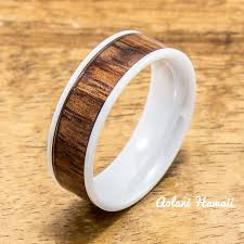 ceramic gold rings images Koa wood ceramic rings perfect for wedding rings engagement jpg