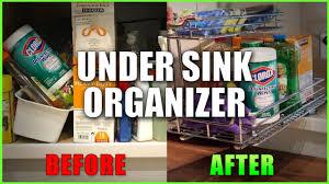 Under Sink Organizer How To Install Under Cabinet Sink Organizer Youtube