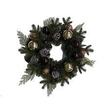 shop allen roth 20 in indoor green pine with golden ornament