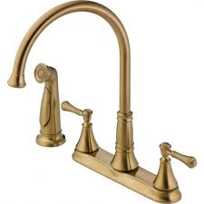 brass champagne bronze kitchen faucet centerset single handle pull