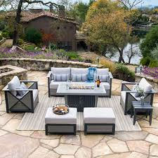 Table Firepit Outdoor Pits Chat Sets Costco