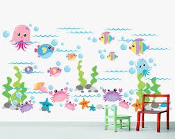 amazon com marine life sea wall decal stickers baby