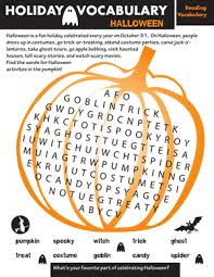 holiday word search halloween worksheet education com