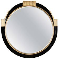 Round Mirrors Art Deco Round Mirror With Gilded Detailing In The Style Of